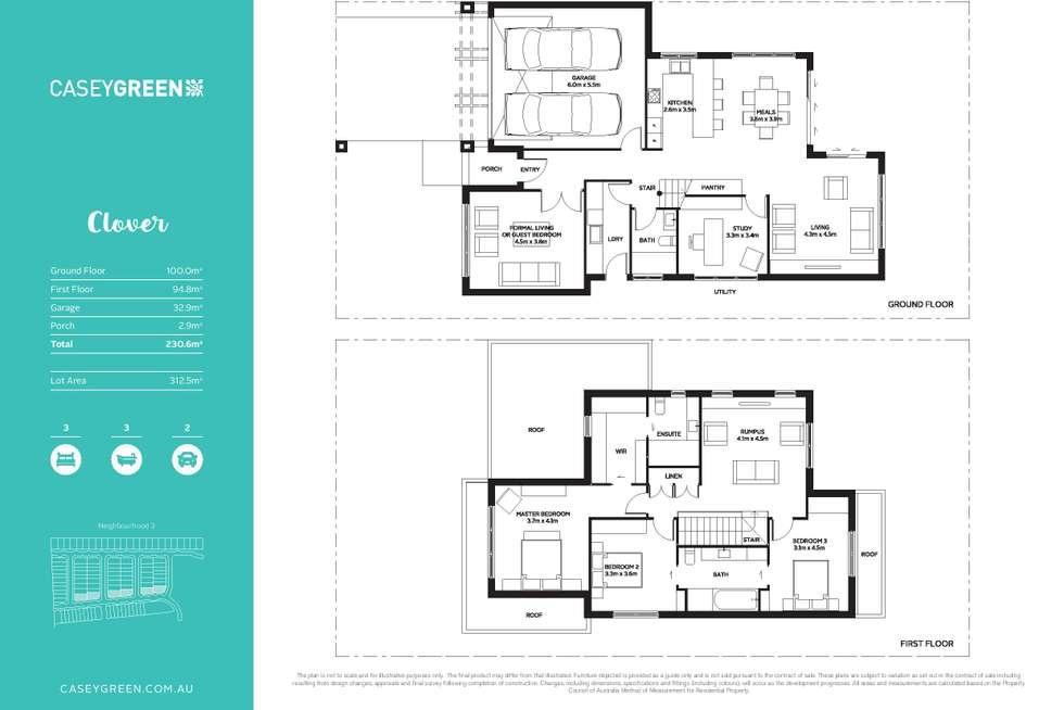Floorplan of Homely house listing, 1 Cisticola Street, Narre Warren VIC 3805
