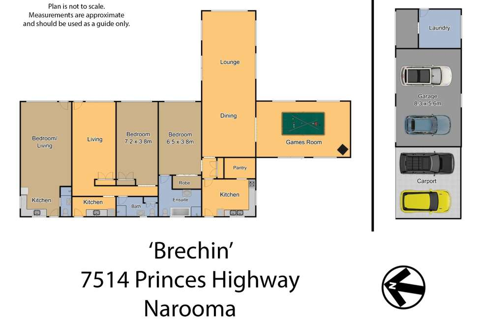 Floorplan of Homely mixedFarming listing, 7514 Princes Highway, Narooma NSW 2546