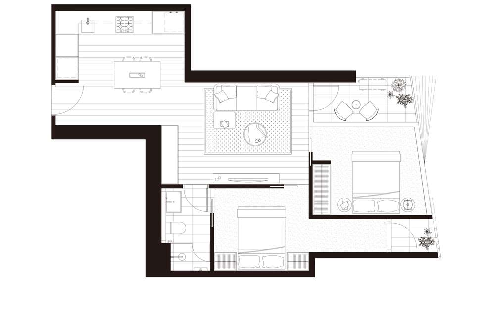 Floorplan of Homely apartment listing, 2601/17 Austin Street, Adelaide SA 5000