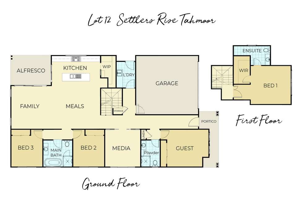 Floorplan of Homely house listing, Lot 12 Settlers Rise, Tahmoor NSW 2573