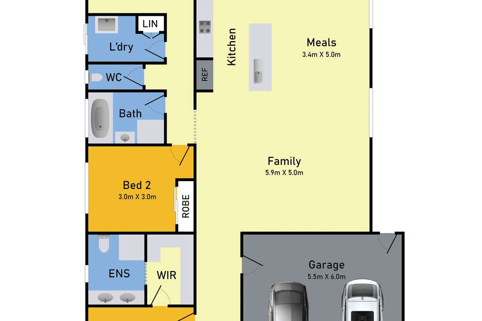 Floorplan of Homely house listing, 25 Atlantis Drive, Point Cook VIC 3030
