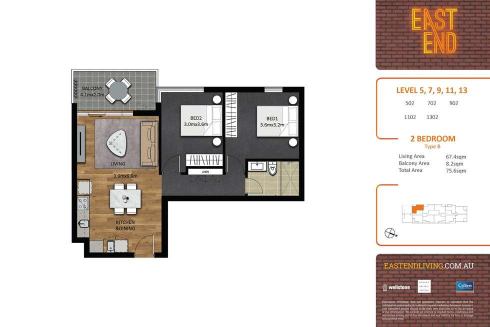 Floorplan of Homely apartment listing, 1302/293-297 Pirie Street, Adelaide SA 5000