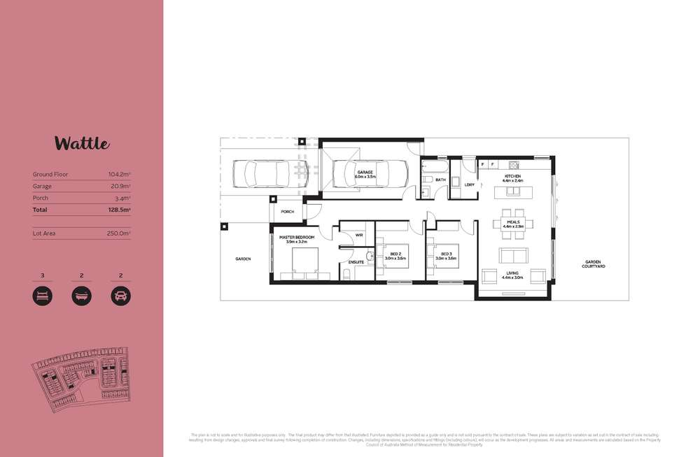 Floorplan of Homely house listing, Lot 124/96S Centre Road, Narre Warren VIC 3805