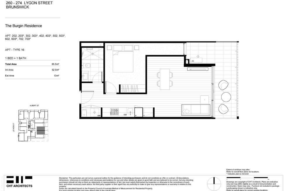 Floorplan of Homely apartment listing, 303/260-274 Lygon Street, Brunswick East VIC 3057
