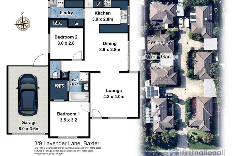 Floorplan of Homely unit listing, 3/9 Lavender Lane, Baxter VIC 3911