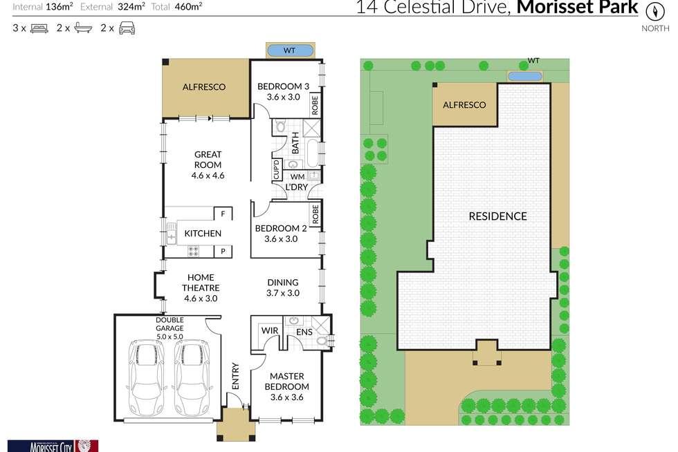 Floorplan of Homely house listing, 14 Celestial Drive, Morisset Park NSW 2264