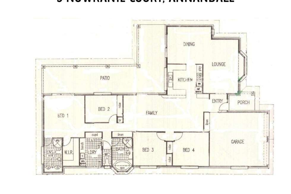 Floorplan of Homely house listing, 3 Nowranie Court, Annandale QLD 4814