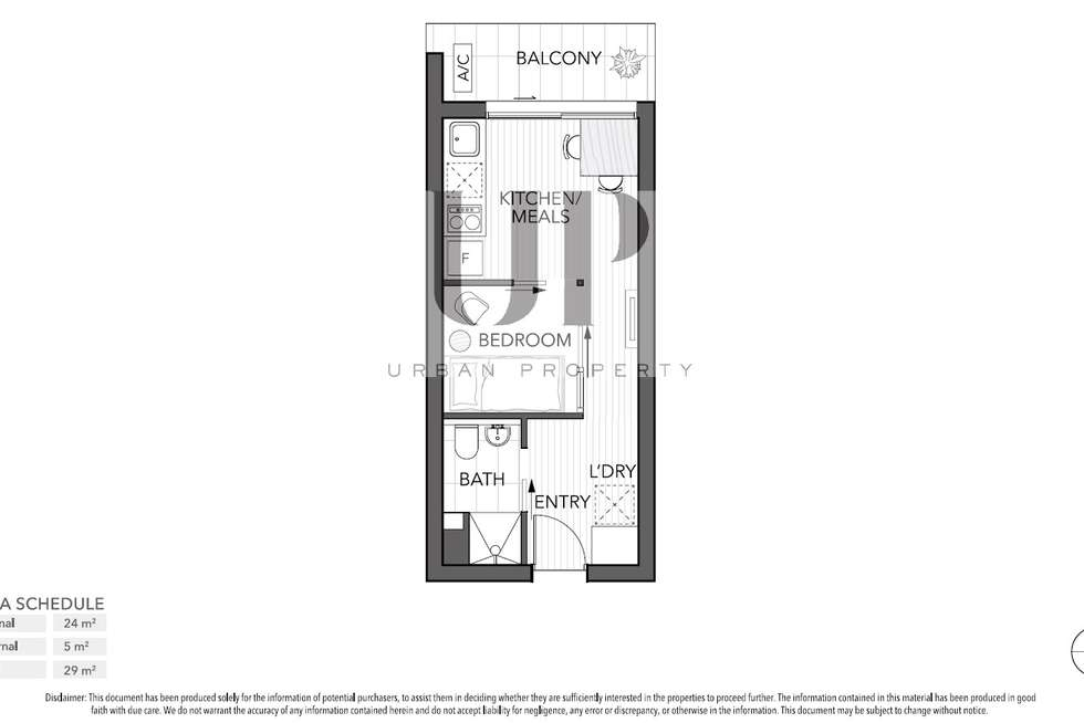 Floorplan of Homely apartment listing, 302/243 Franklin Street, Melbourne VIC 3000