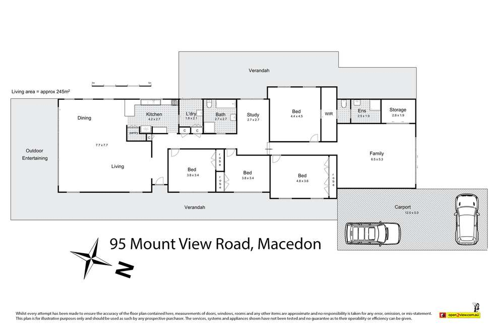 Floorplan of Homely house listing, 95 Mount View Road, Macedon VIC 3440