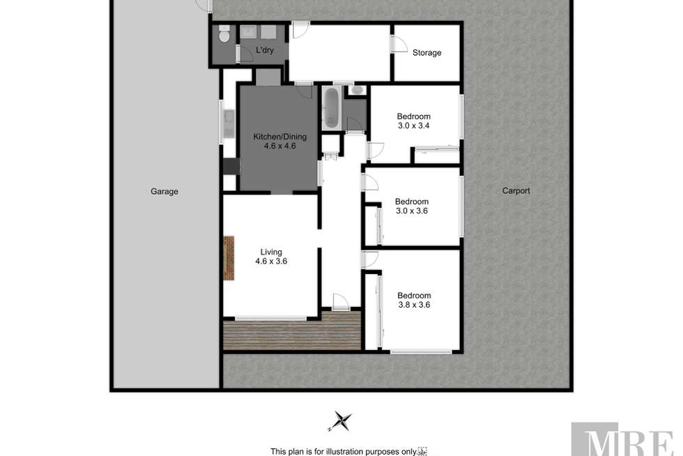 Floorplan of Homely house listing, 30 Elvins Street, Mansfield VIC 3722