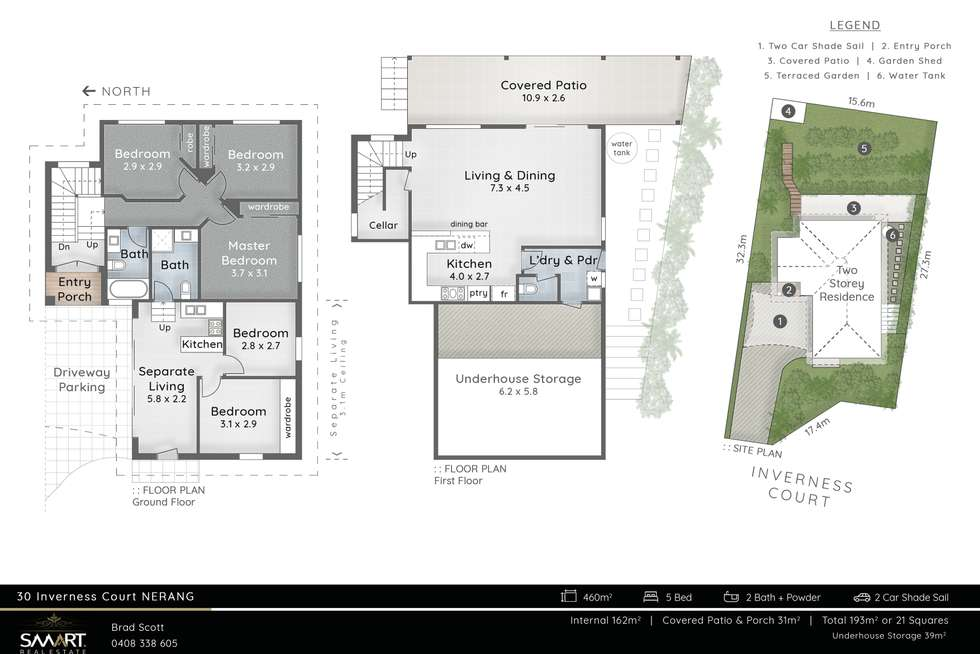 Floorplan of Homely house listing, 30 Inverness Court, Nerang QLD 4211