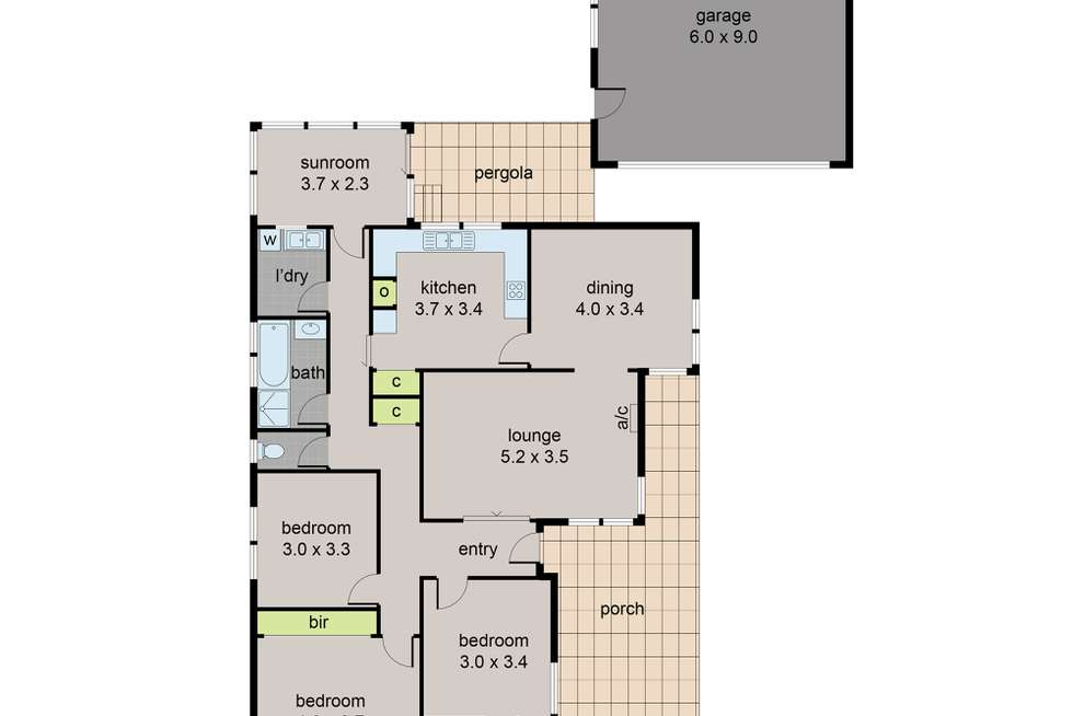 Floorplan of Homely house listing, 24 Fremont Parade, Sunshine West VIC 3020