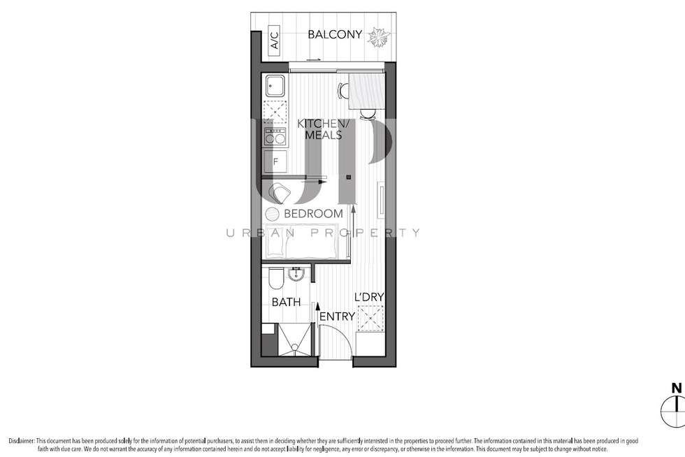Floorplan of Homely apartment listing, 610/243 Franklin Street, Melbourne VIC 3000