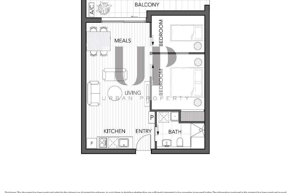 Floorplan of Homely apartment listing, 204/253 Franklin Street, Melbourne VIC 3000