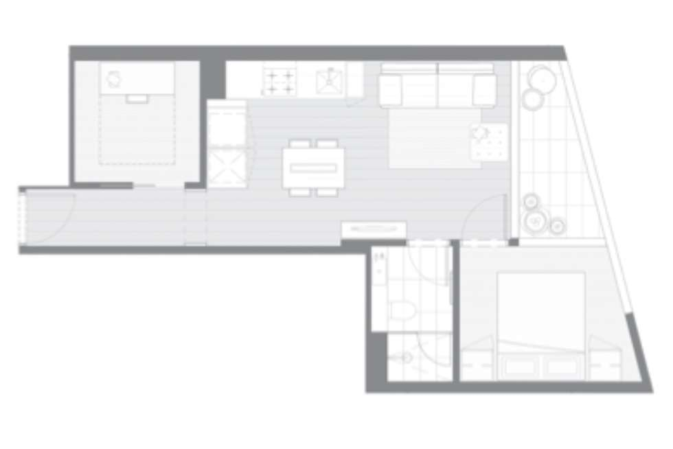 Floorplan of Homely apartment listing, 2407/135 A'Beckett St, Melbourne VIC 3000