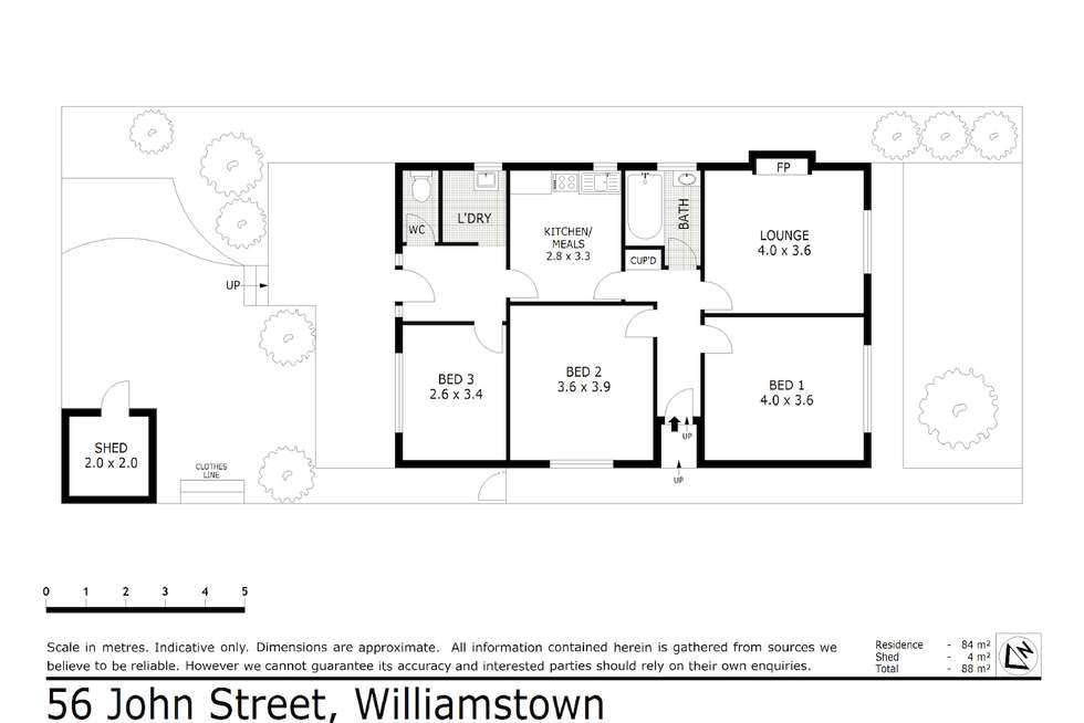 Floorplan of Homely house listing, 56 John Street, Williamstown VIC 3016