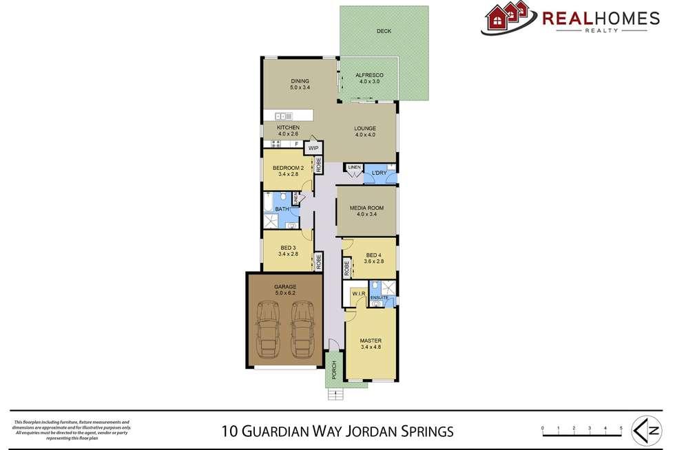 Floorplan of Homely house listing, 10 Guardian Way, Jordan Springs NSW 2747