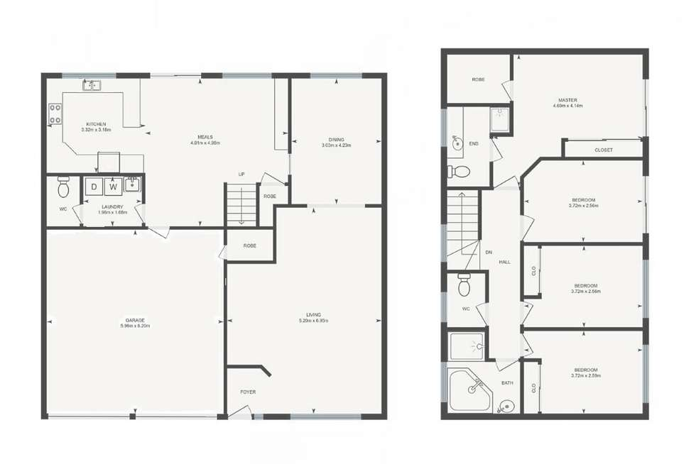 Floorplan of Homely townhouse listing, 2/121 Crisp Circuit, Bruce ACT 2617