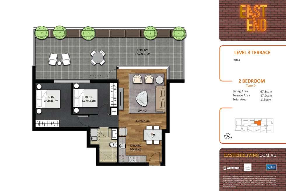 Floorplan of Homely apartment listing, 304/293-297 Pirie Street, Adelaide SA 5000