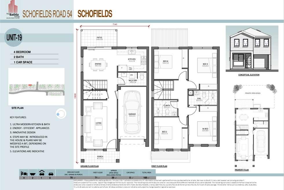 Floorplan of Homely townhouse listing, 79 Sciberras Avenue, Schofields NSW 2762