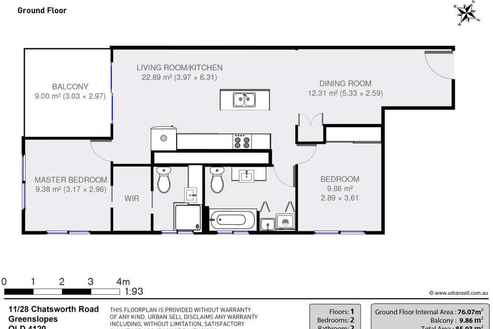 Floorplan of Homely unit listing, 11/28 Chatsworth Road, Greenslopes QLD 4120