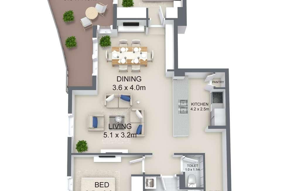 Floorplan of Homely unit listing, 37/446 Ann Street, Brisbane City QLD 4000