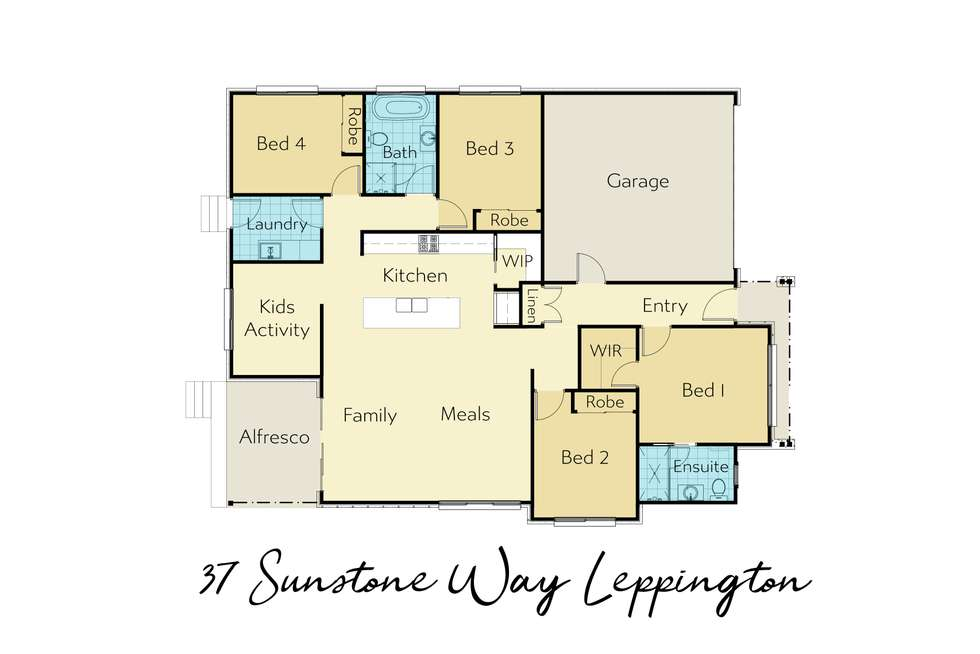 Floorplan of Homely house listing, 37 Sunstone Way, Leppington NSW 2179