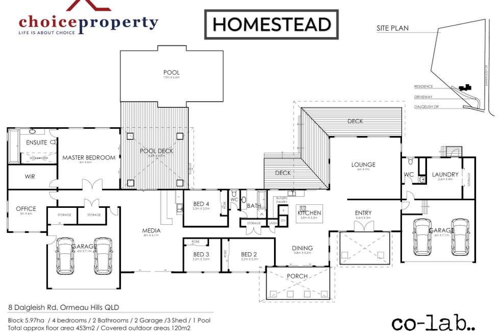 Floorplan of Homely acreageSemiRural listing, 8 DALGLEISH ROAD, Ormeau Hills QLD 4208