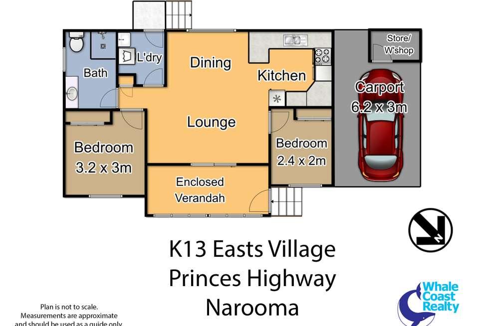 Floorplan of Homely retirement listing, K13/48 Princes Highway, Narooma NSW 2546