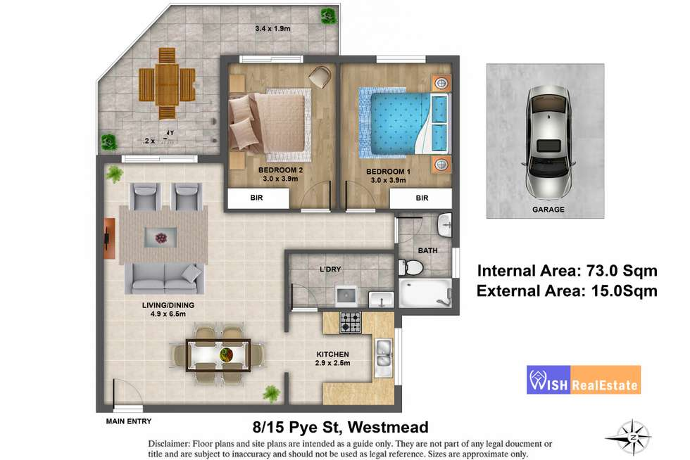 Floorplan of Homely unit listing, 8/15 Pye Street, Westmead NSW 2145
