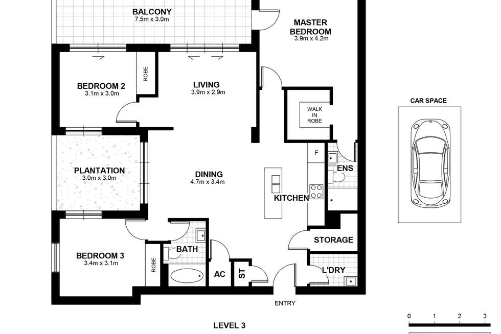 Floorplan of Homely apartment listing, 302/29 Hunter Street, Parramatta NSW 2150