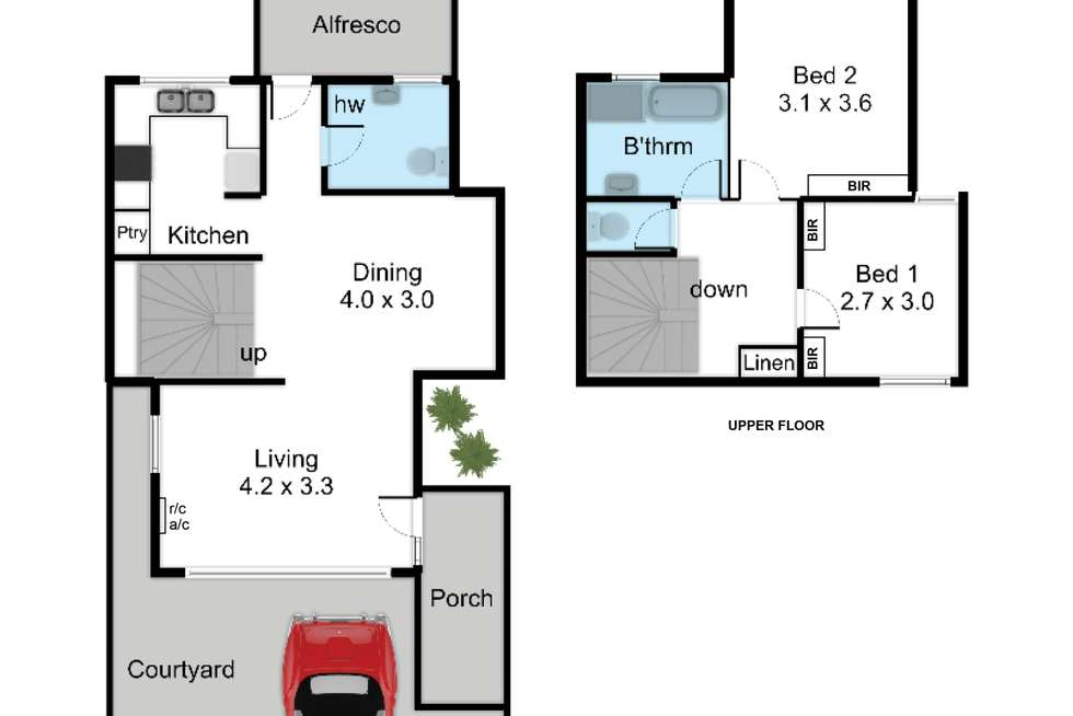 Floorplan of Homely townhouse listing, 3/305 Portrush Road, Norwood SA 5067