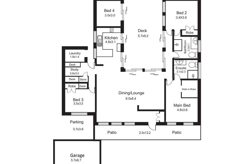 Floorplan of Homely house listing, 40 Satellite Street, Clifton Beach QLD 4879