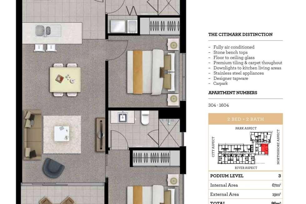 Floorplan of Homely apartment listing, 1505/35 Hercules Street, Hamilton QLD 4007