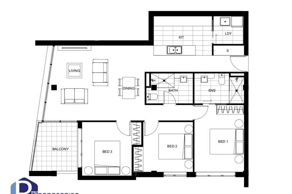 Floorplan of Homely apartment listing, A1404/18 Harrow Road, Auburn NSW 2144