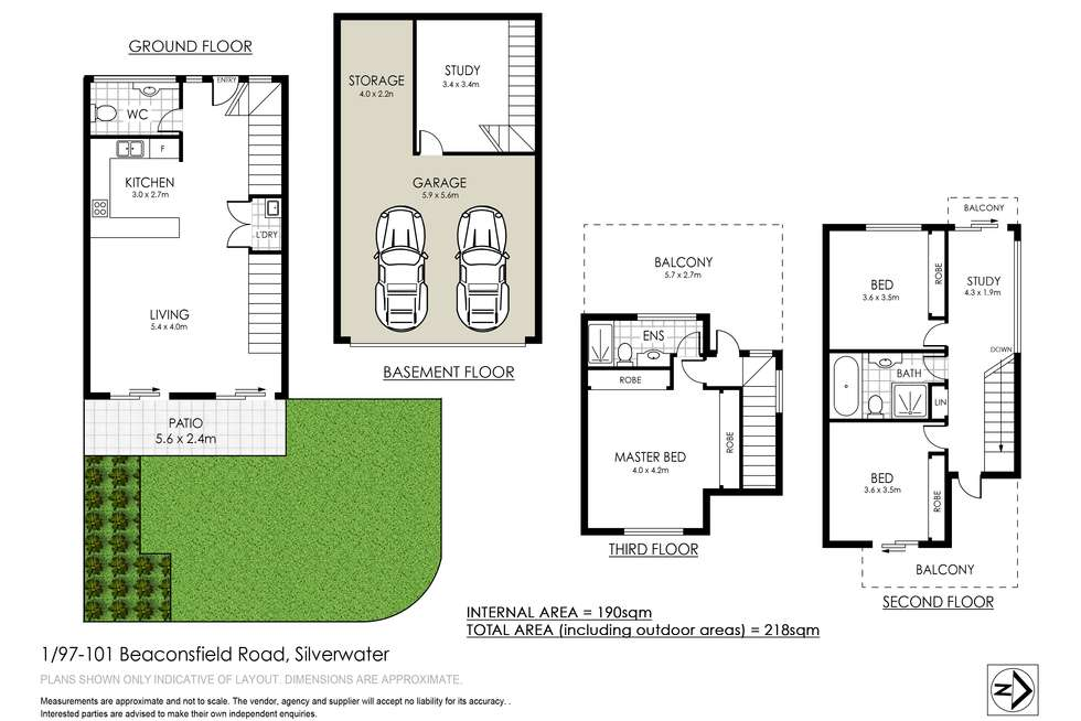 Floorplan of Homely townhouse listing, 1/97-101 Beaconsfield Street, Silverwater NSW 2128