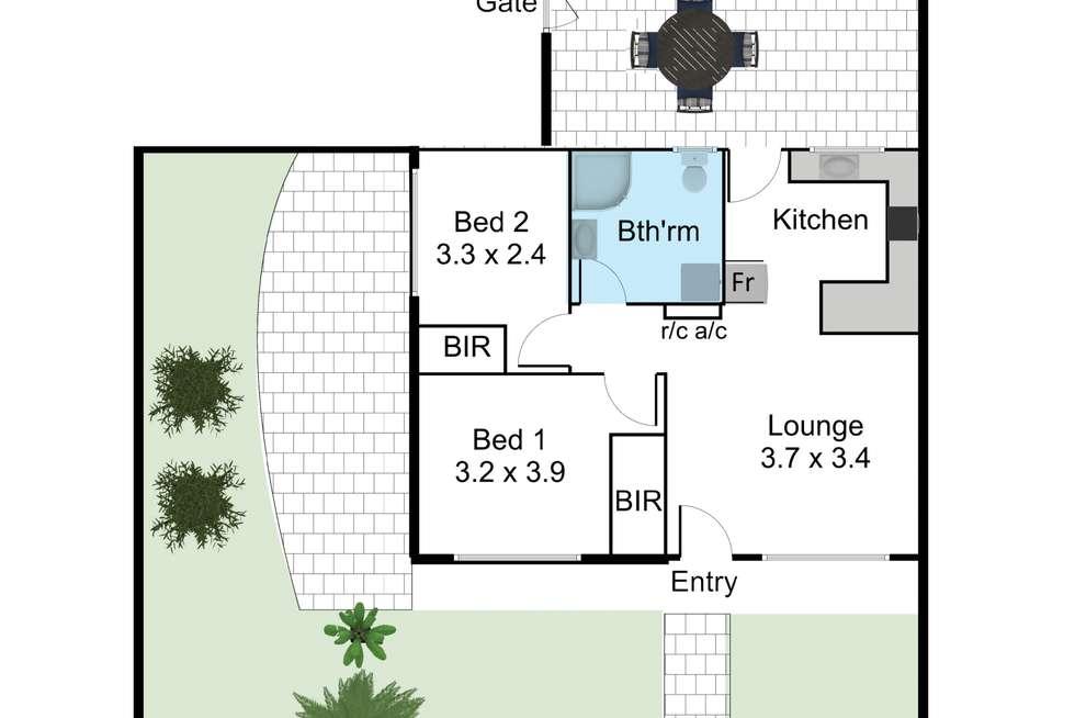 Floorplan of Homely unit listing, 1/5 Roebuck Street, Mile End SA 5031