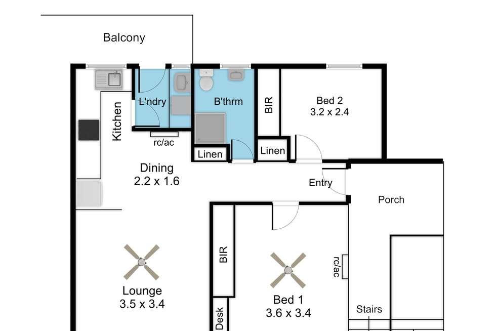 Floorplan of Homely unit listing, 10/13 Fifth Avenue, Cheltenham SA 5014