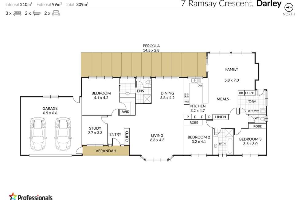 Floorplan of Homely house listing, 7 Ramsay Crescent, Darley VIC 3340