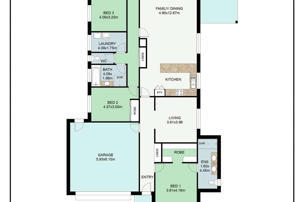 Floorplan of Homely house listing, 35 DARTNELL CRESCENT, Wodonga VIC 3690