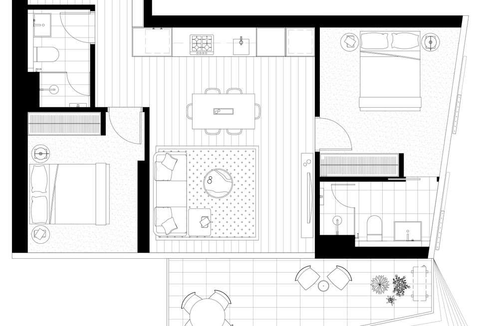 Floorplan of Homely apartment listing, 909/15 Austin Street, Adelaide SA 5000