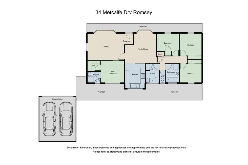 Floorplan of Homely house listing, 34 Metcalfe Drive, Romsey VIC 3434