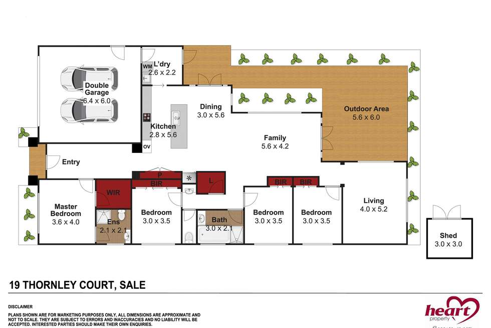 Floorplan of Homely house listing, 19 Thornley Court, Sale VIC 3850