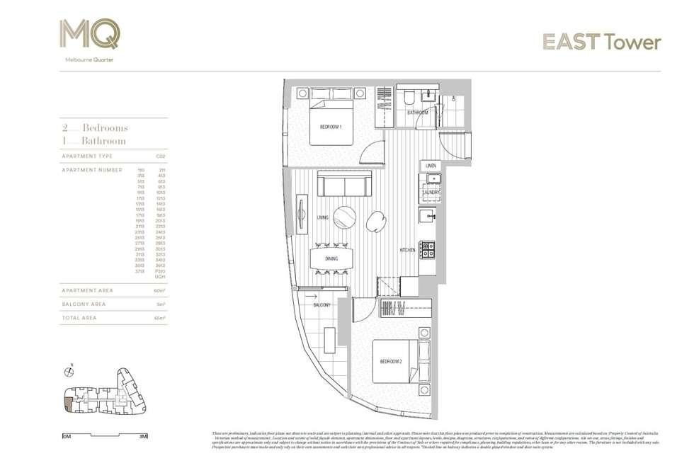 Floorplan of Homely apartment listing, Melbourne Quarter at Flinders Street, Docklands VIC 3008
