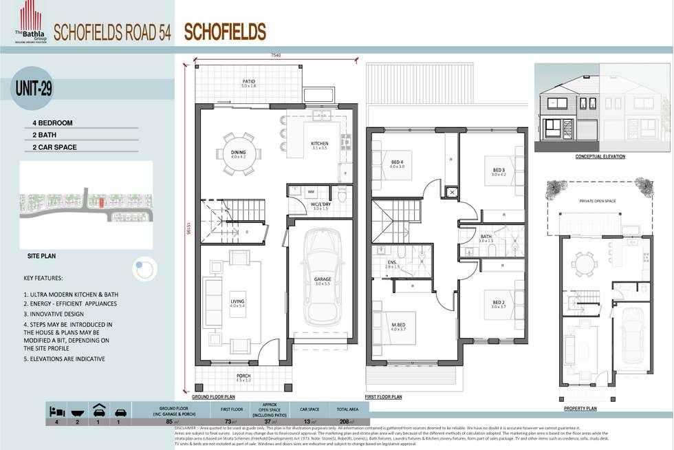 Floorplan of Homely townhouse listing, 95 Sciberras Avenue, Schofields NSW 2762