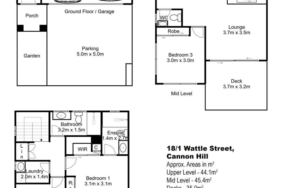 Floorplan of Homely townhouse listing, 18/1 Wattle Street, Cannon Hill QLD 4170