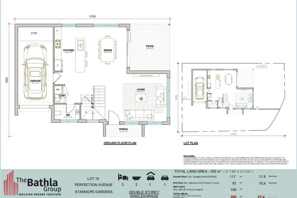 Floorplan of Homely house listing, 1 Ashtead Parade, Stanhope Gardens NSW 2768