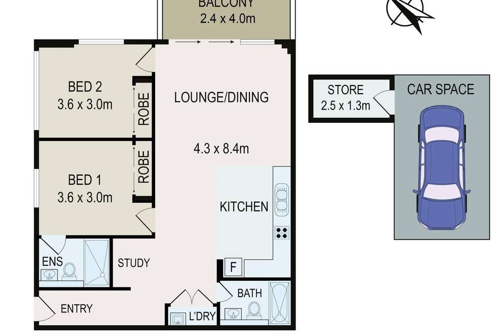 Floorplan of Homely apartment listing, 22/2-8 Burwood Rd, Burwood Heights NSW 2136