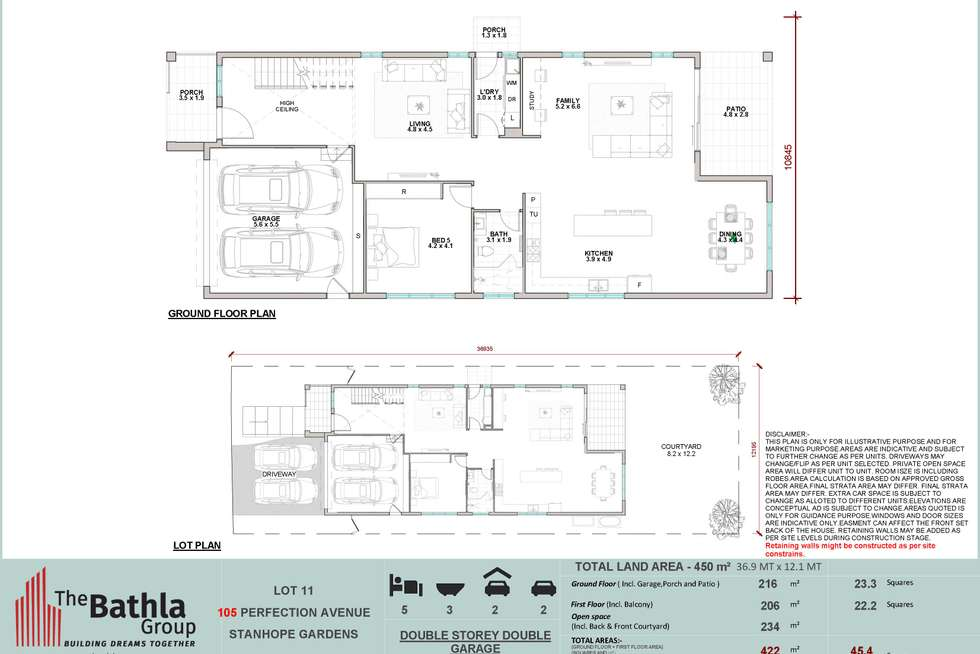 Floorplan of Homely house listing, 105 Perfection Ave, Stanhope Gardens NSW 2768