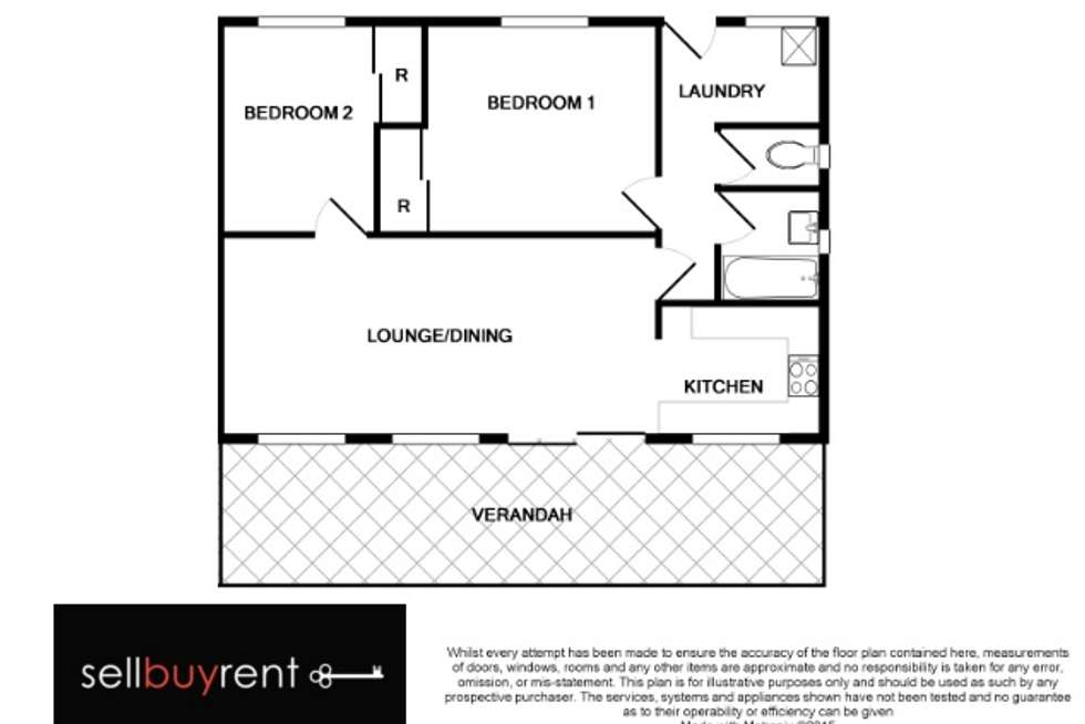 Floorplan of Homely unit listing, 5/14 MCEWEN CRESCENT, Wodonga VIC 3690
